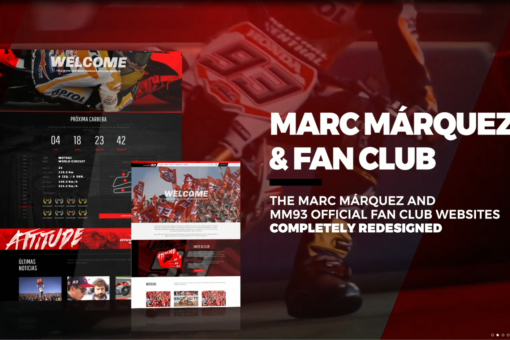 MARC MÁRQUEZ LAUNCHES A NEW WEBSITE, ACCOMPANIED BY A REMODELED ON-LINE STORE