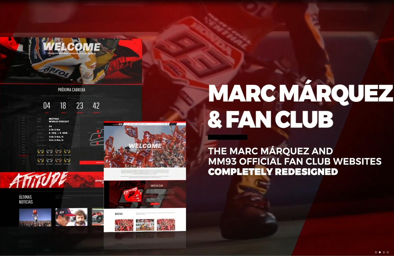 Nuevas webs de Marc Márquez y su fan club 5051f3e15c0