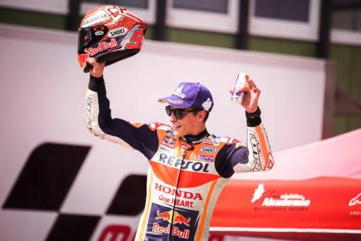 Podium for Marc Márquez in his 100th MotoGP race