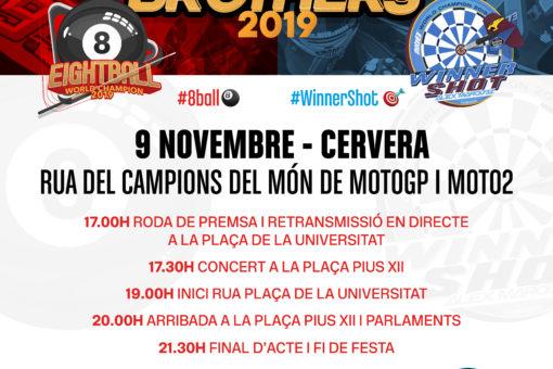Celebració del Mundial a Cervera el 09 de novembre